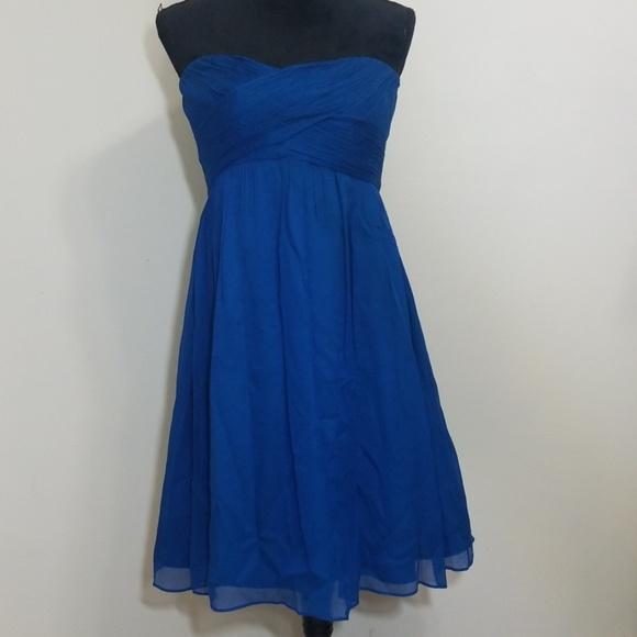 J. Crew Dresses & Skirts - J. Crew Taryn Dress Silk Chiffon Blue Size 14